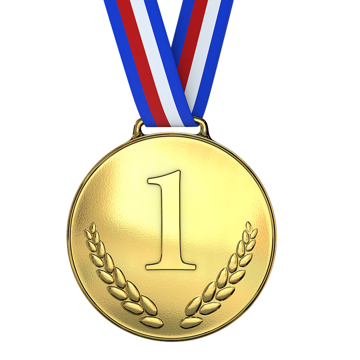 A great example of a medal used as a sports award