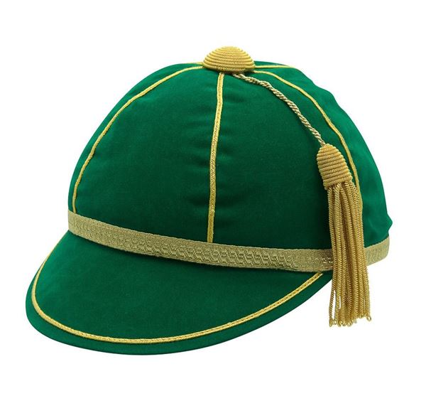 Picture of Honours Cap Dark Emerald With Gold Trim