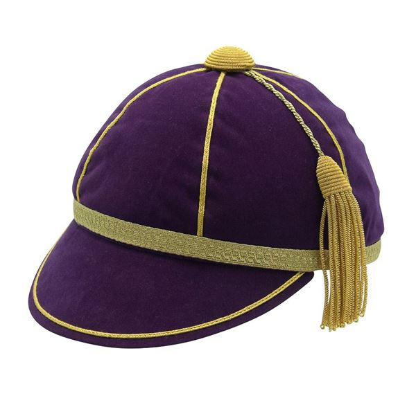 Picture of Honours Cap Purple With Gold Trim