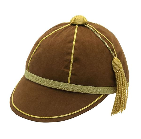 Picture of Honours Cap Brown With Gold Trim