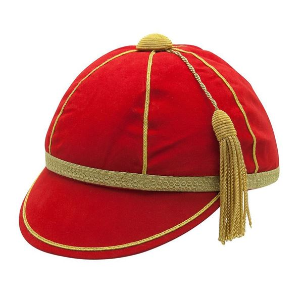 Picture of Honours Cap Red With Gold Trim