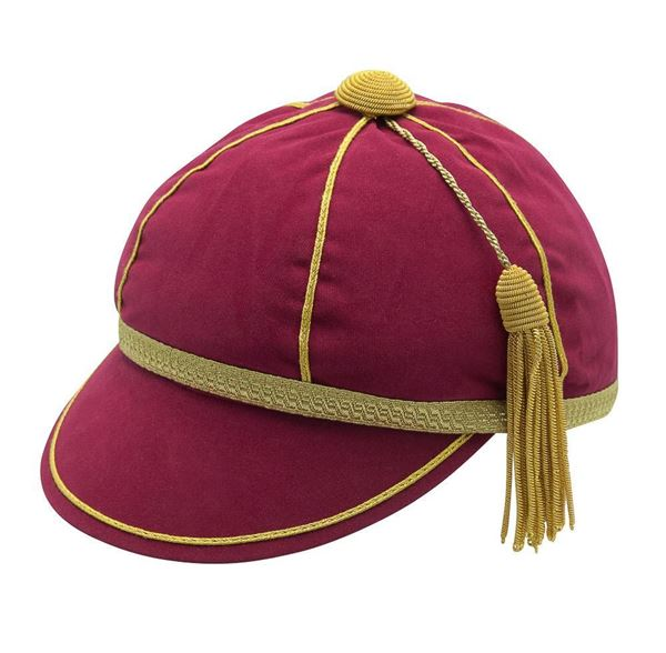 Picture of Honours Cap Dark Cerise With Gold Trim