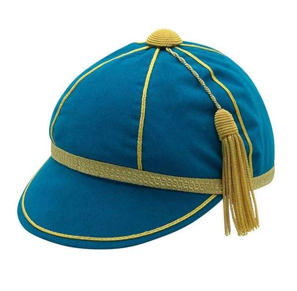 Picture of Honours Cap Pale Blue With Gold Trim