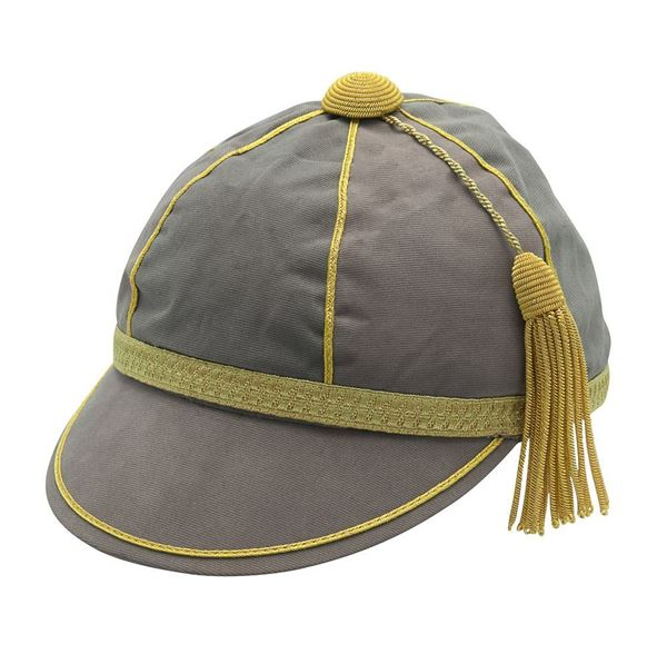 Picture of Honours Cap Warm Grey With Gold Trim