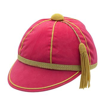 Picture of Honours Cap Cerise Pink With Gold Trim