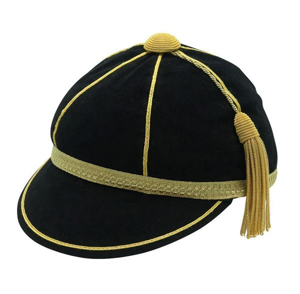 Honours Cap Black With Gold Trim front left view