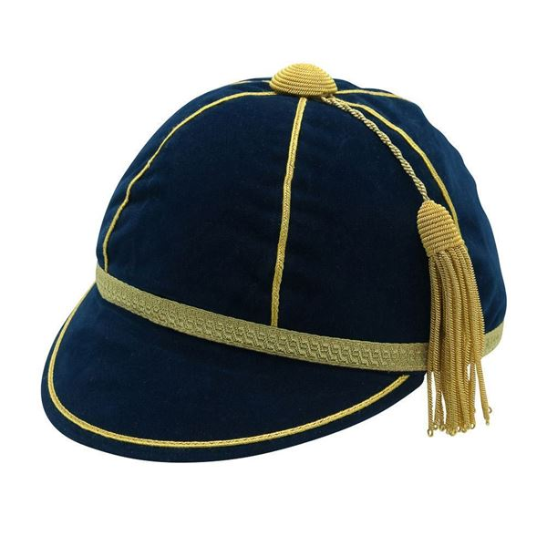 Picture of Honours Cap Navy With Gold Trim