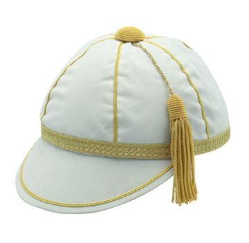 Picture of Honours Cap White With Gold Trim