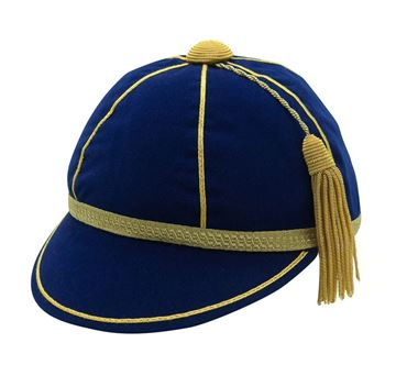Picture of Honours Cap Dark Royal With Gold Trim