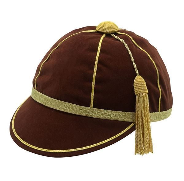 Picture of Honours Cap Dark Brown With Gold Trim