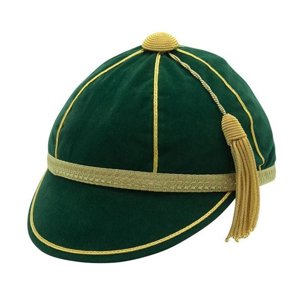 Honours Cap Bottle Green With Gold Trim front left view