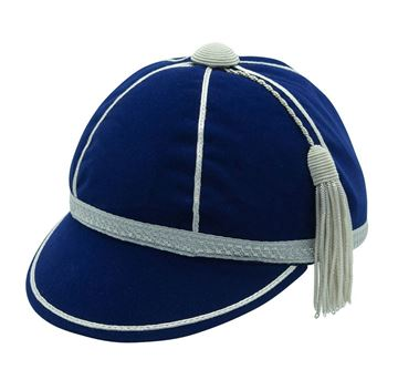 Picture of Honours Cap Dark Royal With Silver Trim