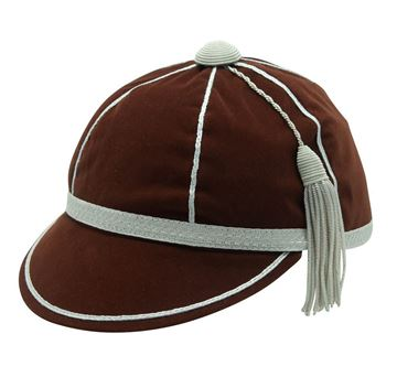 Picture of Honours Cap Dark Brown With Silver Trim