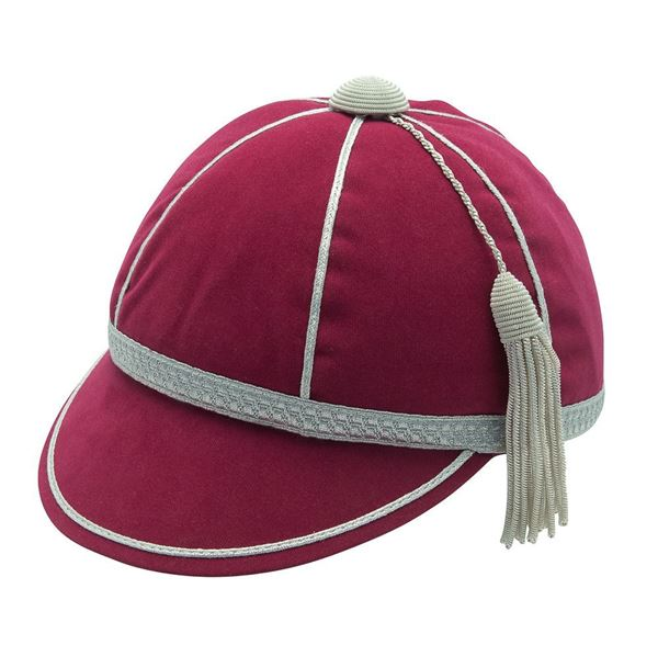 Picture of Honours Cap Dark Cerise With Silver Trim