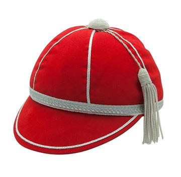 Picture of Honours Cap Red With Silver Trim