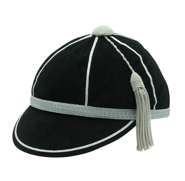 Honours Cap Black With Silver Trim front left view