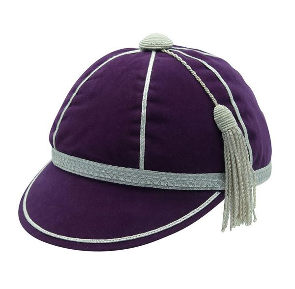 Picture of Honours Cap Purple With Silver Trim
