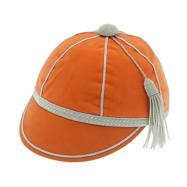 Picture of Honours Cap Orange With Silver Trim