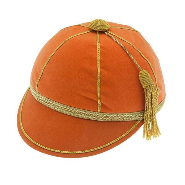 Picture of Honours Cap Orange With Gold Trim
