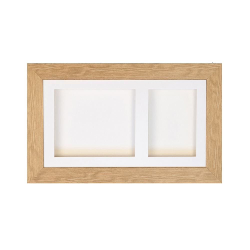 double aperture natural frame - Double Picture Frame