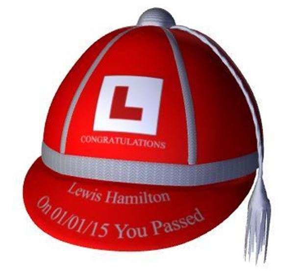 Passing your driving test just personalise honours cap