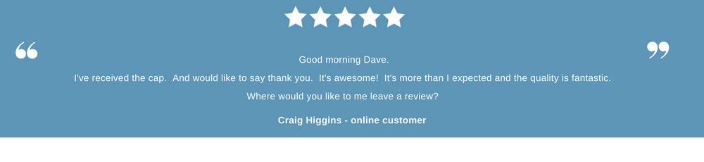 customer testimonial from Craig Higgins an online customer